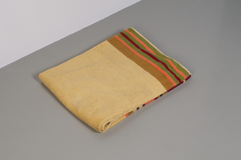 "Fermín Jiménez Landa. ""Towel,"" 2013 Towel. 90 x 140 cm. Courtesy of the artist and Galería Bacelos. Photo credit: Maj Lindstrom"