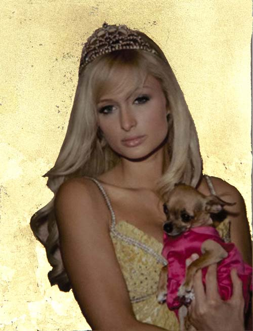 "Alice Shaw. ""Entitled #1 (Paris Hilton),"" 2015. Archival pigment print, 4"" x 3"""