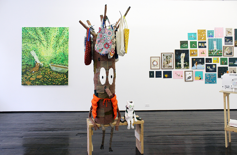 """Atsushi Kaga. """"I am here with you,"""" Installation View. Jack Hanley Gallery"""