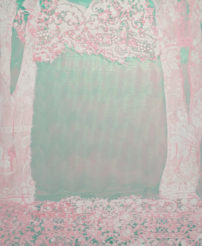 "Mark Flood ""Pink Glade"", 2015 Acrylic on Canvas 30x36 inches"