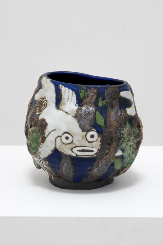 Karin Gulbran, Possible Shark (Small Fishbowl), 2015. Stoneware, 8 × 8 × 7.5 inches. Courtesy of Salon 94.