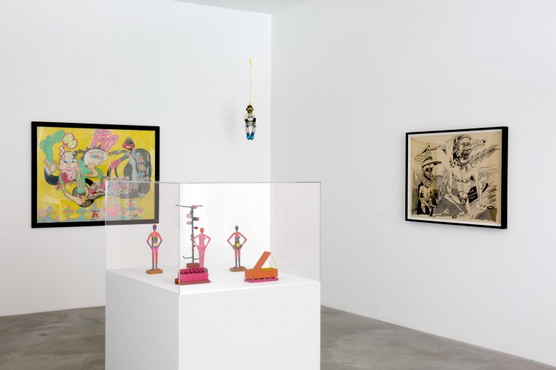 Installation view, What Nerve! Alternative Figures in American Art, 1960 to Present at Matthew Marks Gallery, New York, 2015. Courtesy of Matthew Marks Gallery.
