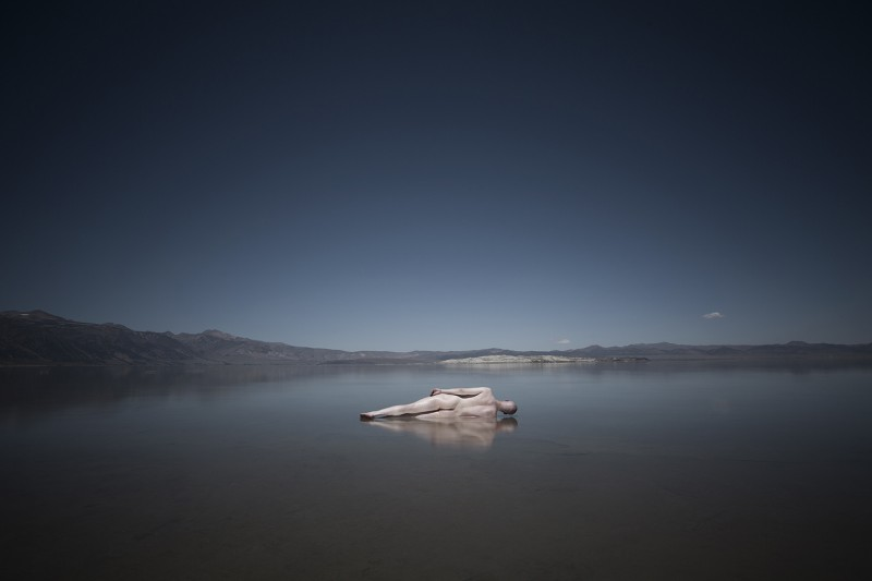 "Ville Kansanen. ""Reclined"" – Mono Lake, CA, 2014, Digital Photograph, 30x20"""