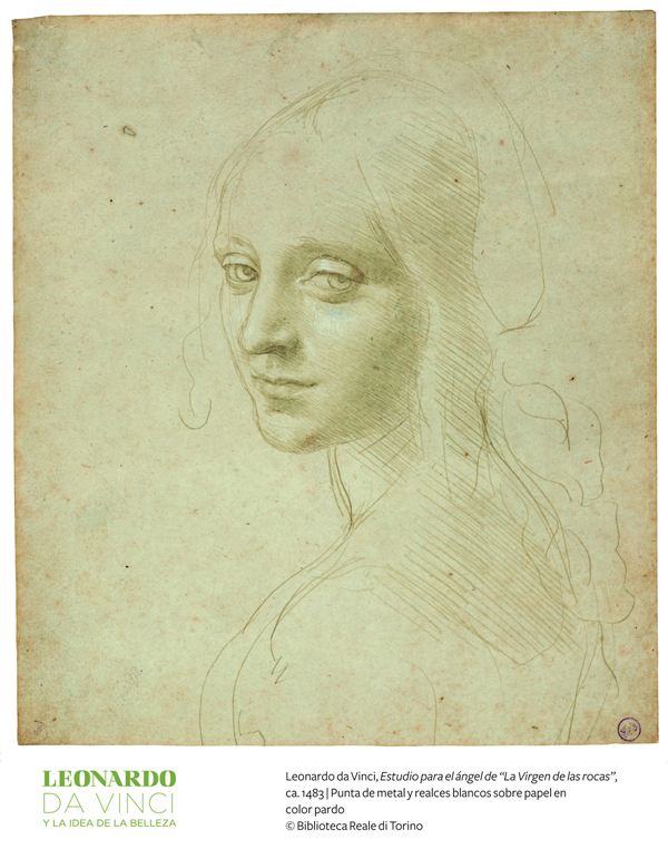Leonardo da Vinci Study for the angel in The Virgin of the Rocks 1483 Once called the most beautiful drawing in the world Copyright Biblioteca Real Turin