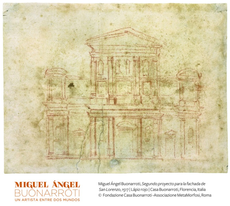 "Michelangelo Buonarroti. ""Second project for the face of the San Lorenza 1517,"" red pencil, Casa Buonarroti, Florence Italy. Copyright Fondazioone Casa Buonarrot-Associazione MetaMorfosi, Roma"