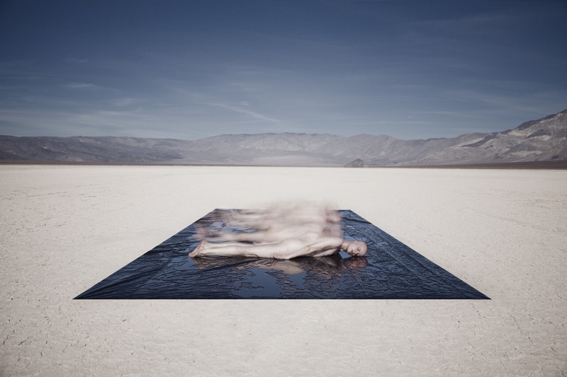 "Ville Kansanen. ""Death Sheet""– Panamint Valley (Death Valley, CA), 2014, Digital Photograph, 30x20"""