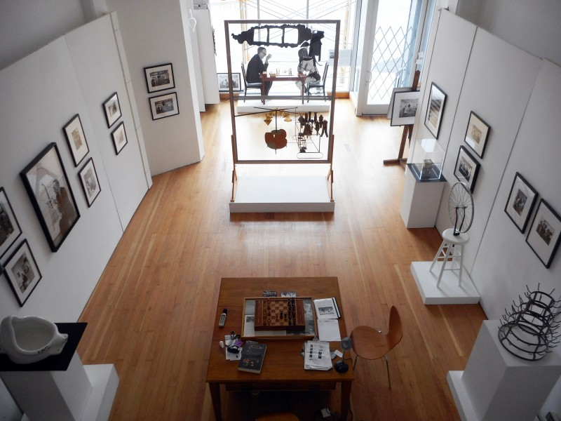 Installation view of JULIAN WASSER: DUCHAMP IN PASADENA REVISITED… (Summer 2015). image courtesy of Robert Berman/E6 Gallery.