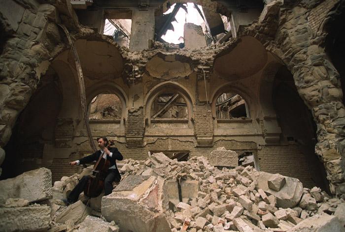 The Cellist of Sarajevo. Courtesy the Internet.