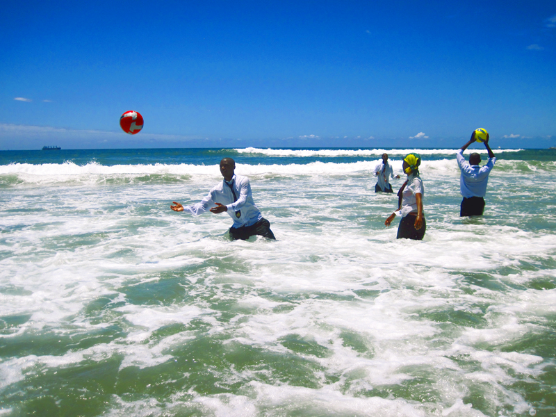 """Kim Anno. """"Ball in Play,"""" 2013. Medium format photograph 28x42"""". From: Water City: Durban, shot in South Africa. Courtesy the artist."""