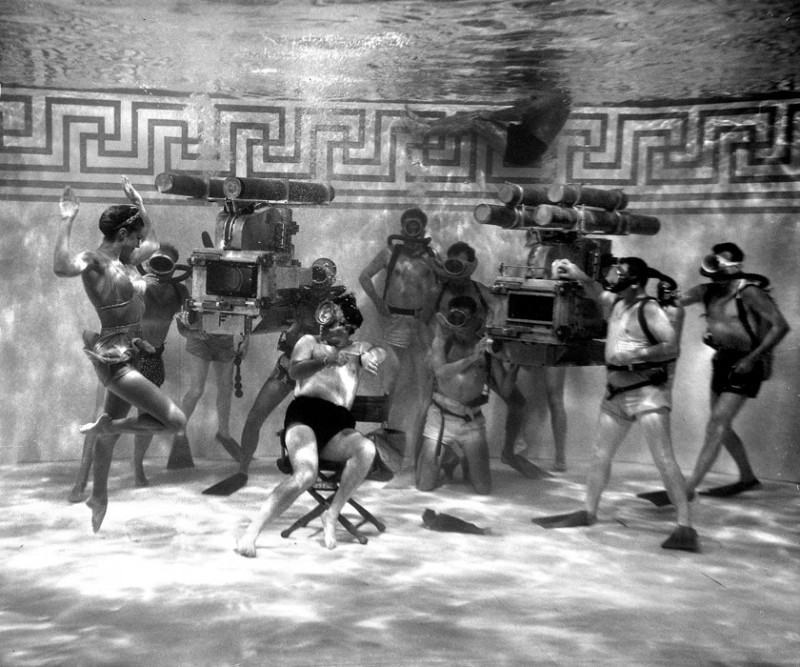Esther Williams during the filming of Jupiter's Darling, 1955