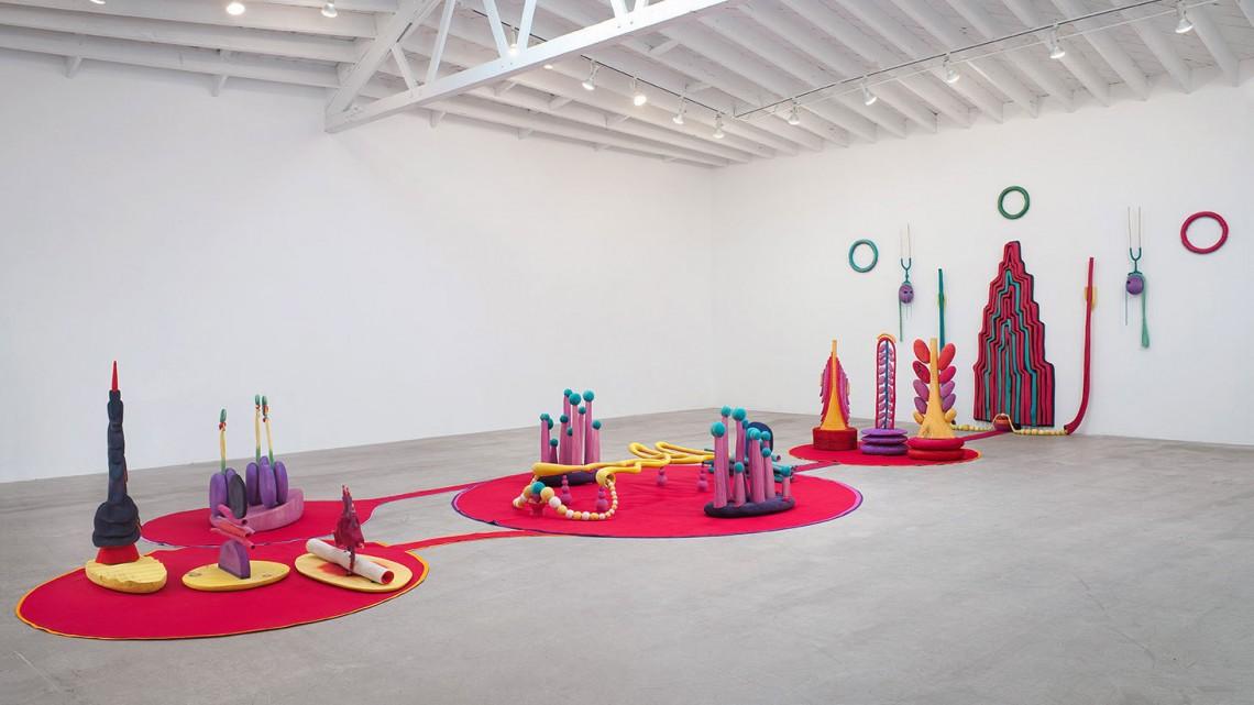 Installation view, Organ/Oganelle, Matthew Ronay at Marc Foxx, Los Angeles, 2014. Courtesy of Marc Foxx.