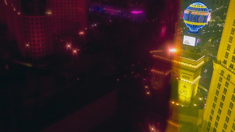 "Kim Anno. ""Erasing Las Vegas #2,"" 2013. Photograph, 22x32"". Shot from the Paris Hotel, Vegas. Courtesy the artist."