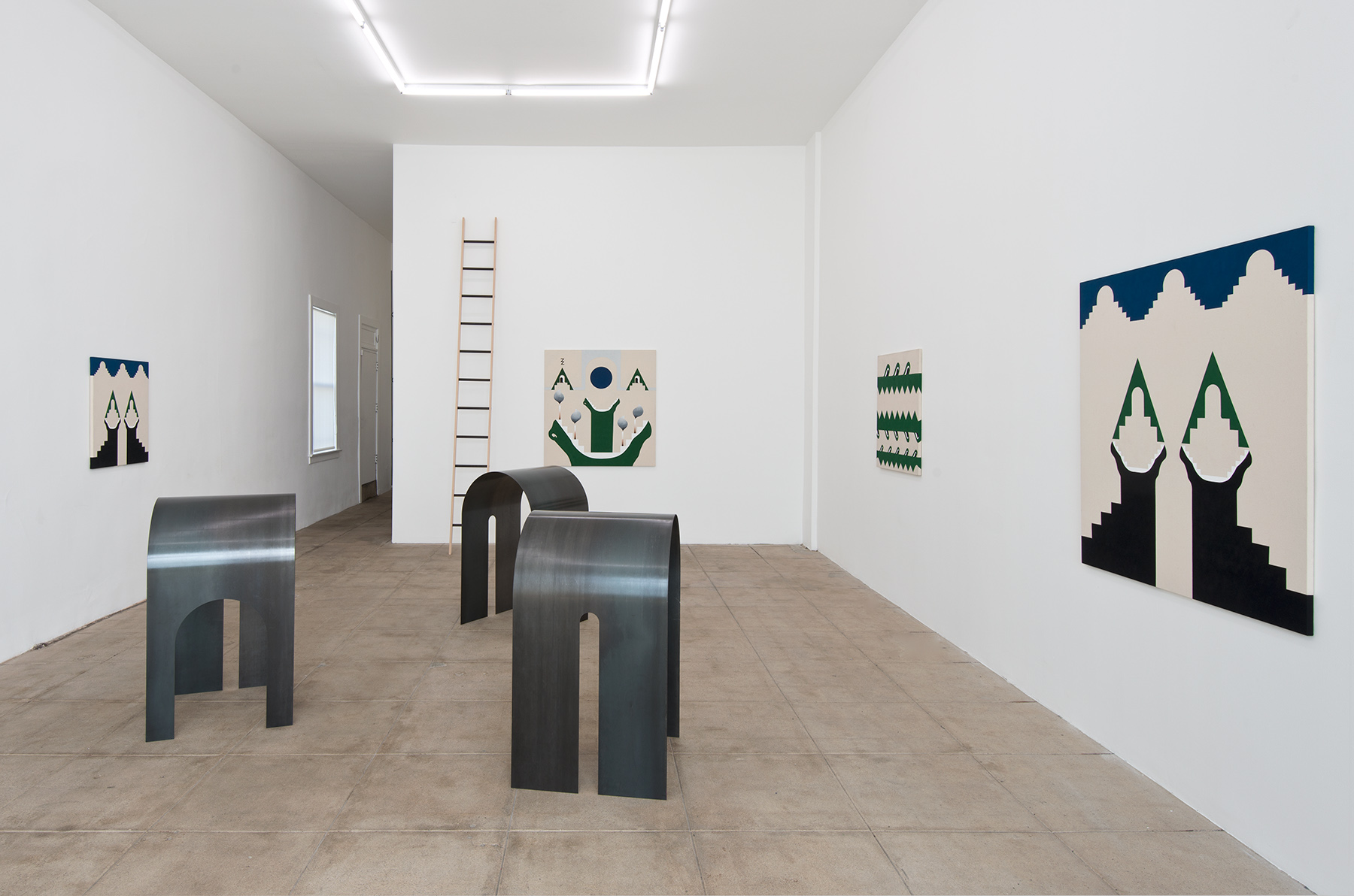 Installation view, Lies Inside at Overduin & Co., New York, 2014. Courtesy of the artist and Overduin & Co.