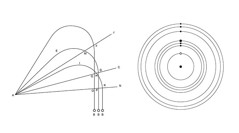 """Andrea Galvani. """"The End"""" diagrams."""