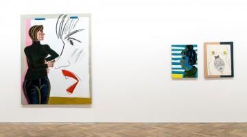 """Ella Kruglyanskaya. """"Fancy Problems,"""" 2015. Installation view. Courtesy of Thomas Dane Gallery, London"""