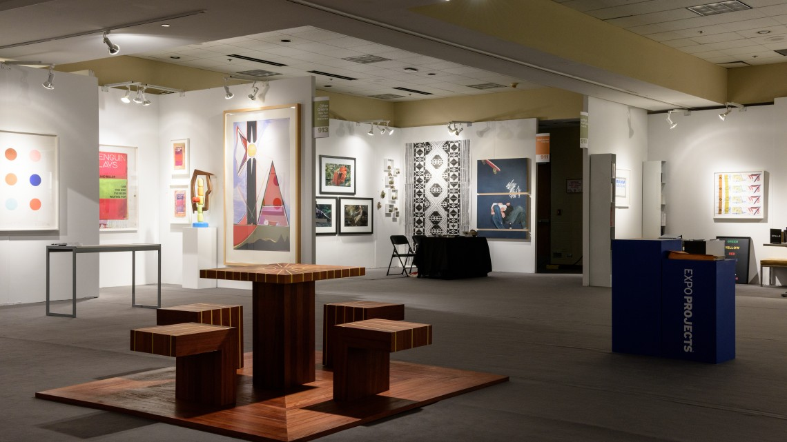 Installation view of EXPO Projects, EXPO CHICAGO. September 17-20,2015. PhotoCredit:CheriEisenberg