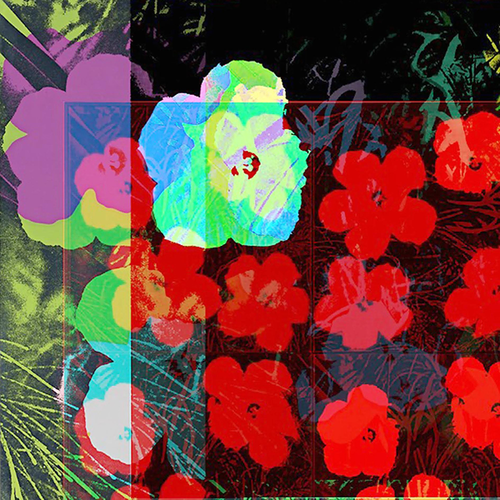 "Cornelia Sollfrank. ""anonymous-warhol_flowers@Jun_2_19.02.02_2015,"" 2015. Image made with net.art generator: http://net.art-generator.com, digital print, dimensions variable. Courtesy the artist / DAM Gallery"
