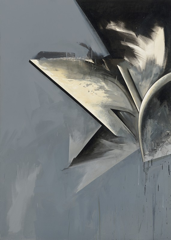 "Jay DeFeo. ""Hawk Moon No. 1,"" 1983-85. Oil on canvas. 84 x 60 inches. Courtesy of Hosfelt Gallery"