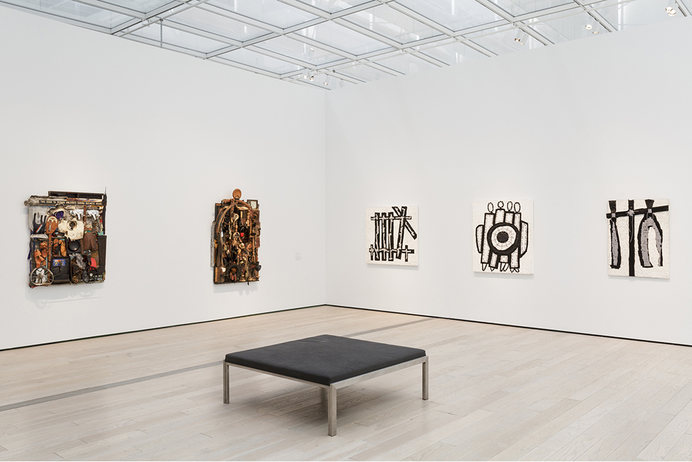"""Installation photo of the exhibition """"Noah Purifoy: Junk Dada"""" at the Los Angeles County Museum of Art. June 07- September 27, 2015. ©Noah Purifoy Foundation. Photo © Museum Associates/LACMA"""
