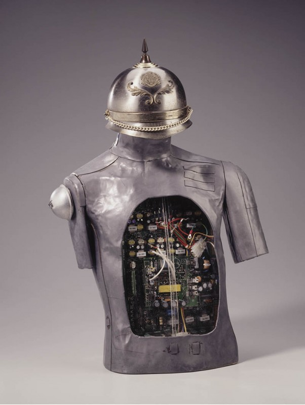 """Noah Purifoy. """"Sir Watts II,"""" 1996. Assemblage sculpture. Collection of the Oakland Museum of California, gift of the Collector's gallery © Noah Purifoy Foundation Photo © Oakland Museum of California, all rights reserved."""
