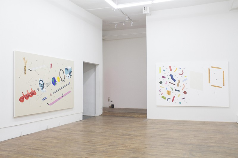 Installation view, Two & Two, Henry Gunderson at 247365, New York, 2015. Courtesy of the artist and 247365.