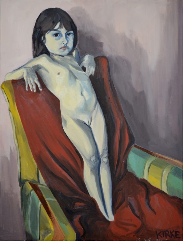 Alma Nude, 2014. Oil on canvas,  29 x 22 inches. Courtesy of Fouladi Projects.