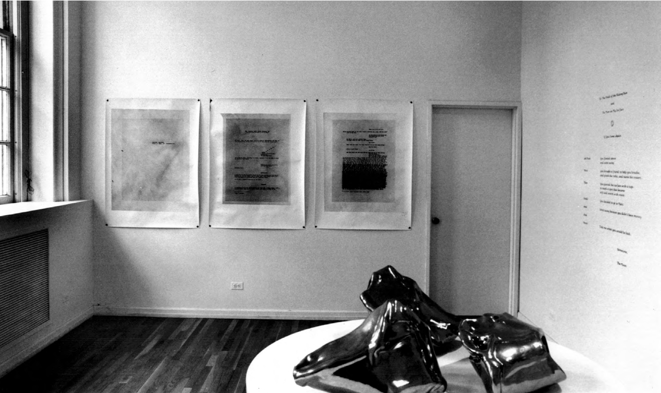 Installation view, Dear Mr. Armstrong, Katy Schimert at Janice Guy, New York, 1995. Courtesy of Murray Guy.