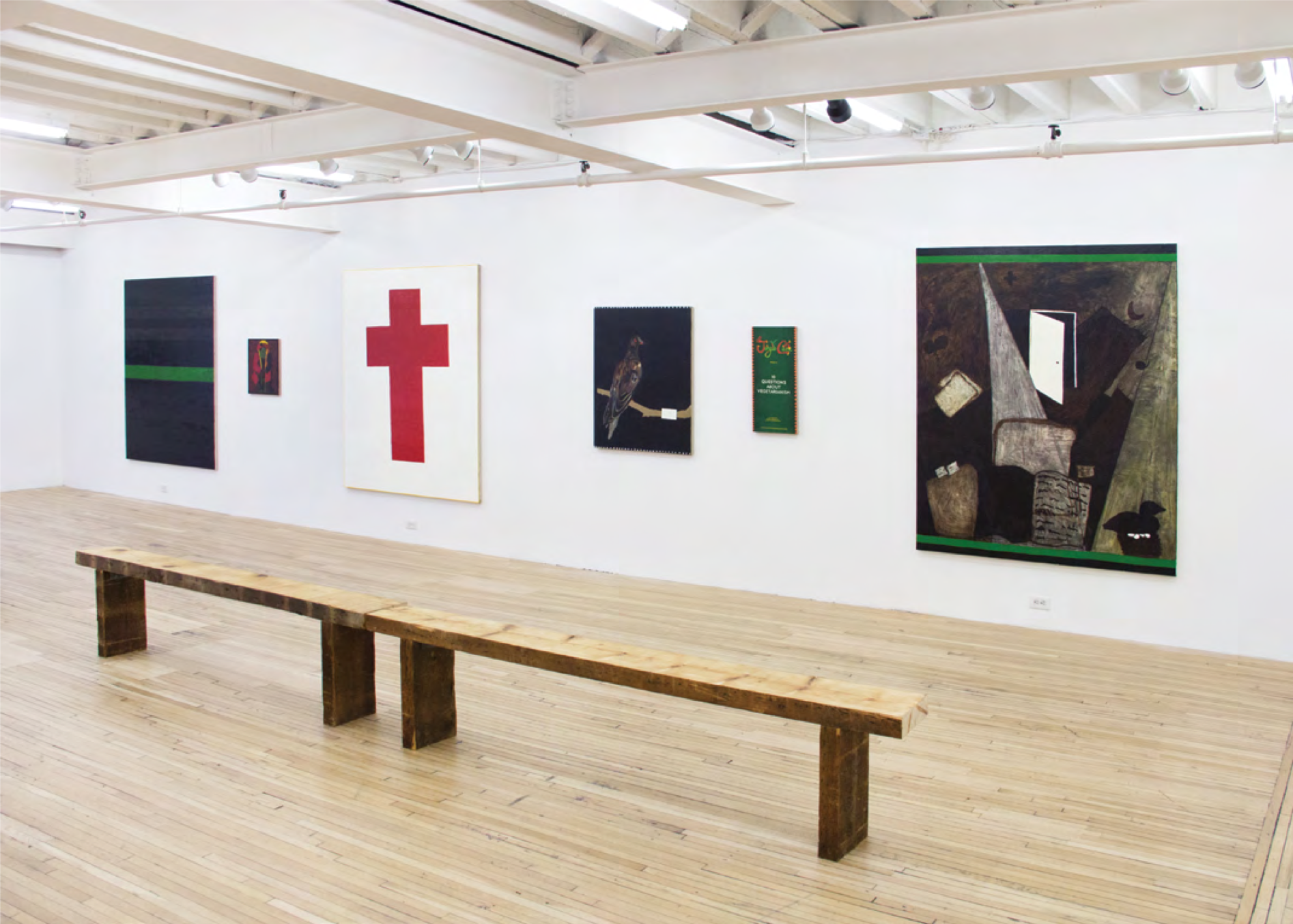 Installation view, The Meal of the Lion, Leidy Churchman at Murray Guy, New York, 2015. Courtesy of Murray Guy.