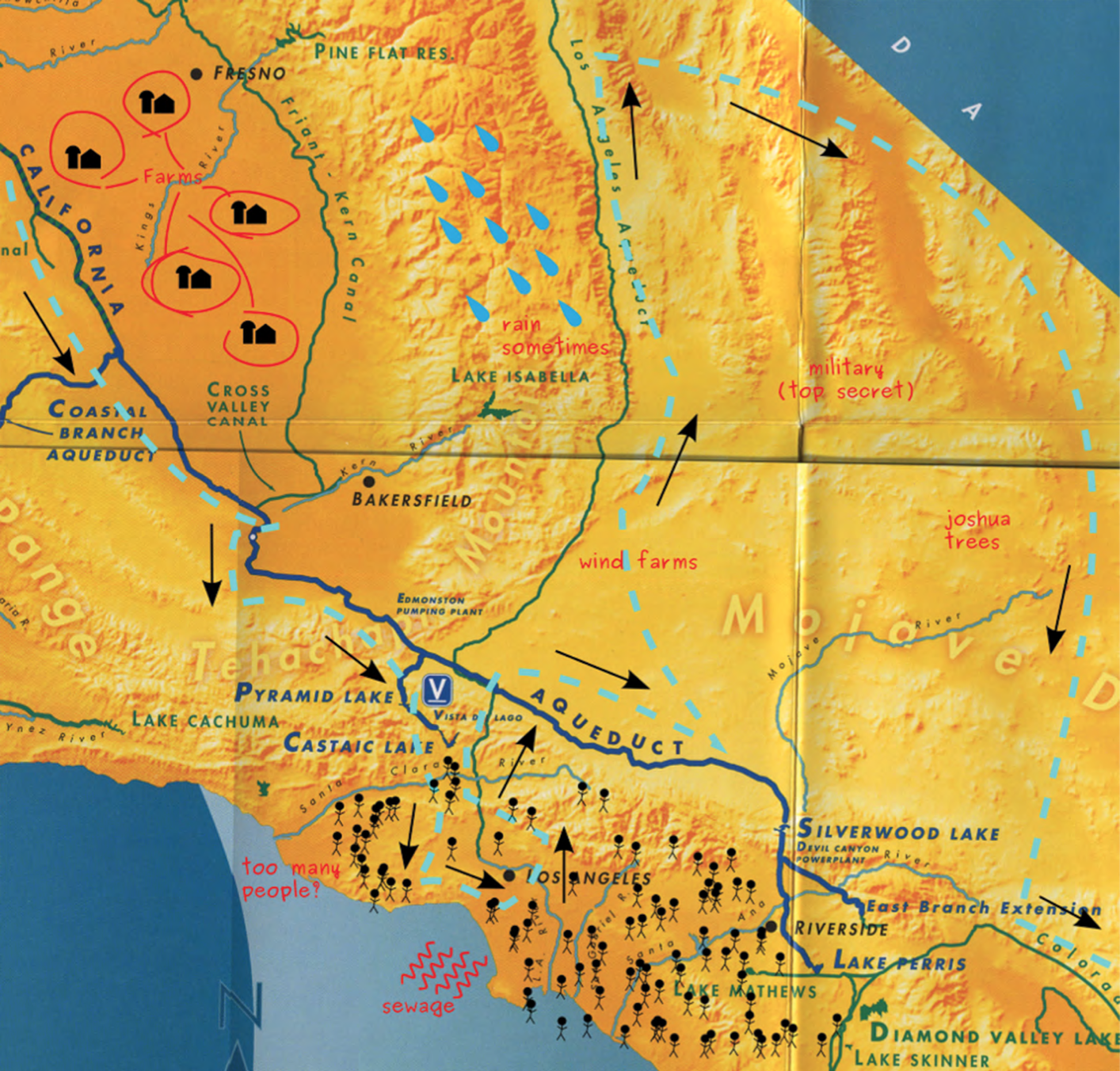 A mocked up copy of the DWR map. Courtesy of the author.