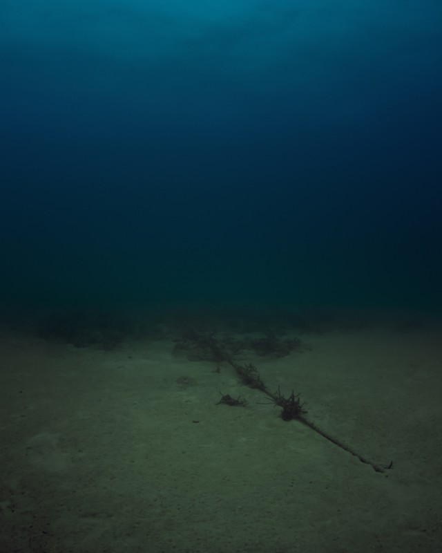 "Trevor Paglen. ""Bahamas Internet Cable System (BICS-1), NSA/GCHQ-Tapped Undersea Cable, Atlantic Ocean,"" 2015. c-print, 60 x 48 inches, 152.4 x 121.9 cm. Courtesy of the artist and Metro Pictures."