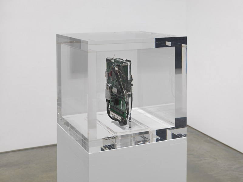 "Trevor Paglen. ""Autonomy Cube,"" 2015. plexi box with computer components, 14  x 14 x 14 inches, 35.6 x 35.6 x 35.6 cm. Courtesy of the artist and Metro Pictures."