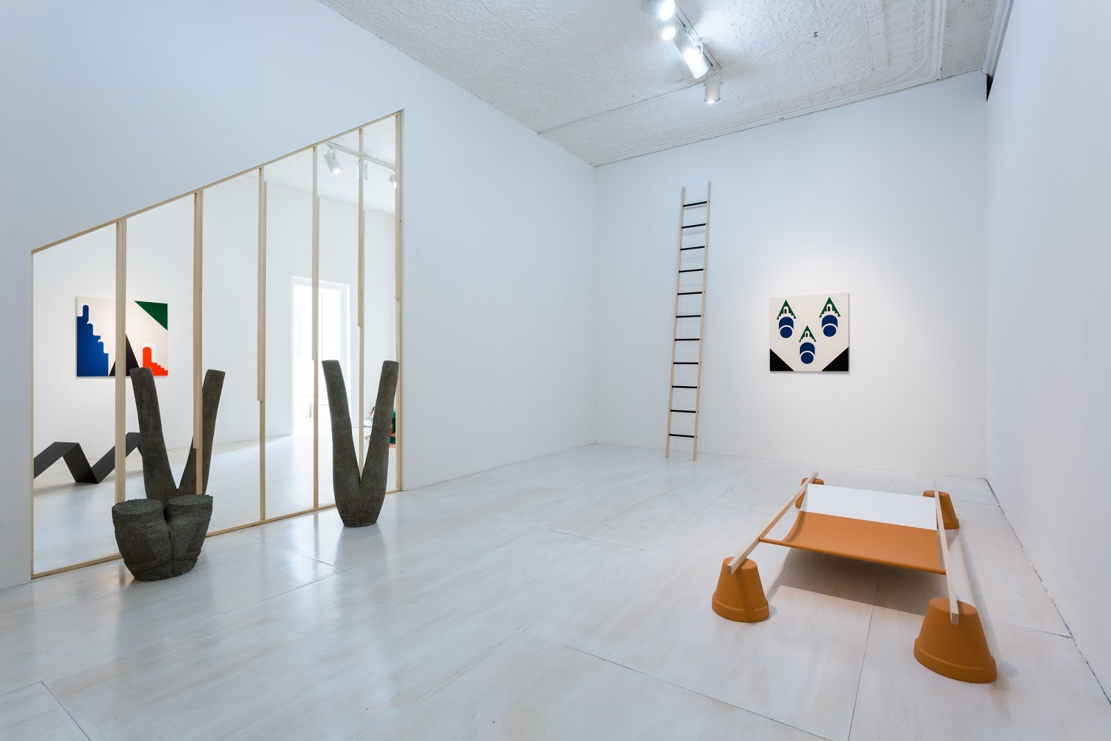 Installation view, Math Bass: Off the Clock at MoMA PS1, 2015. Image courtesy of the artist and MoMA PS1. Photograph by Pablo Enriquez.