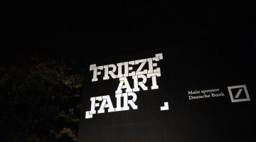 The entrance to Frieze Art Fair 2015,. Photo by Robert Strang