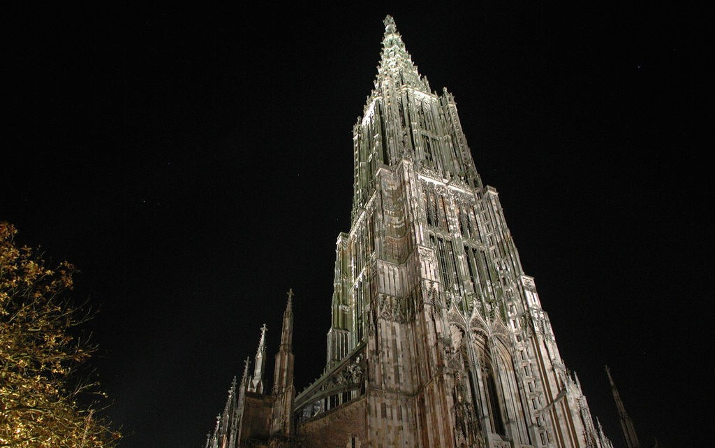 Ulm Minster in Ulm, Germany. Tallest building in the world from 1890 to 1901. Courtesy of the Internet.