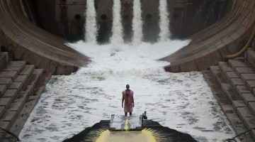 "Matthew Barney and Jonathan Bepler. ""River of Fundament,"" 2014. Production still, courtesy of Gladstone Gallery, New York and Brussels, © Matthew Barney, photo by Hugo Glendinning."