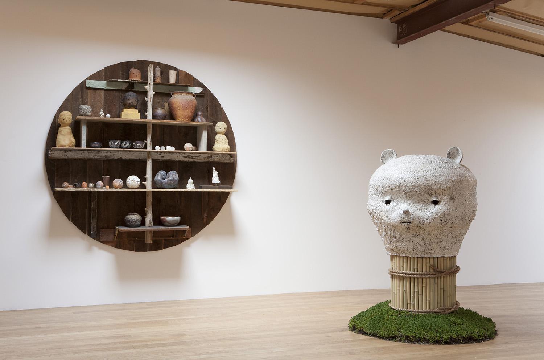 Kazunori Hamana, Yuji Ueda, and Otani Workshop. Installation view, 2015. Blum & Poe, Los Angeles