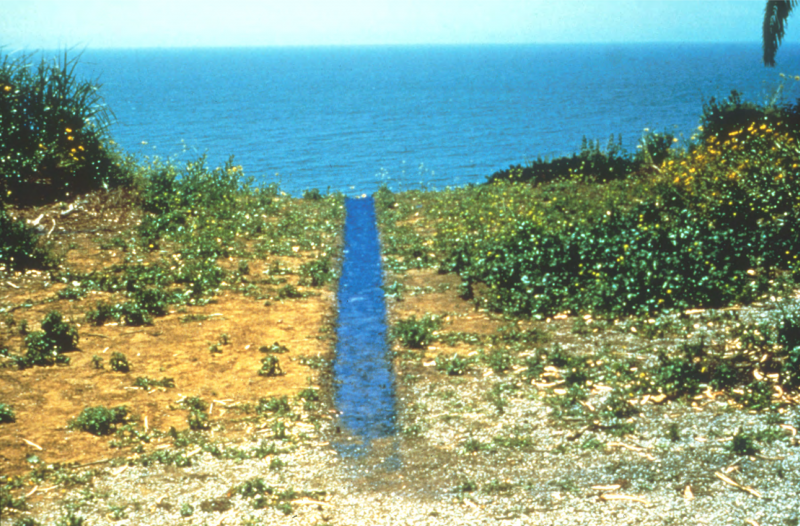 Malibu Line, 1978. Pigment, 41 feet x 14 inches. Courtesy of the artist and Kohn Gallery.