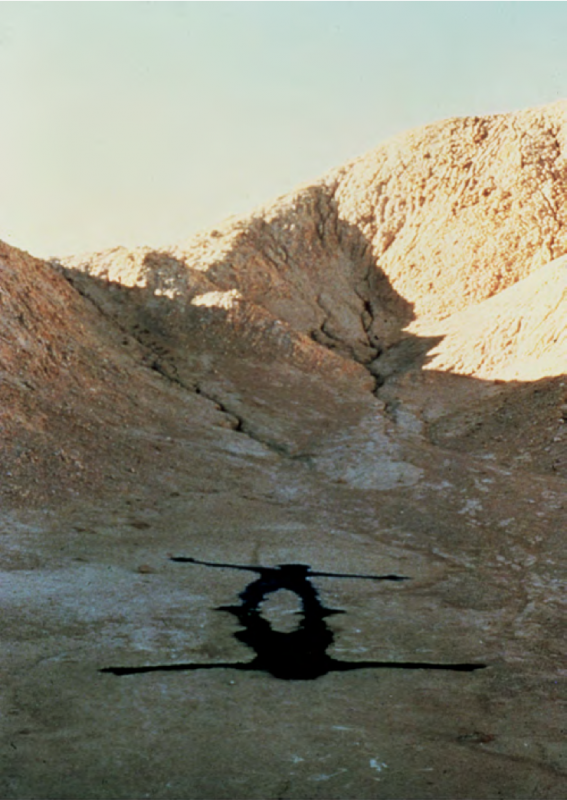 Man and the Mountain #1, 1978. Death Valley, California. Courtesy of the artist and Kohn Gallery.