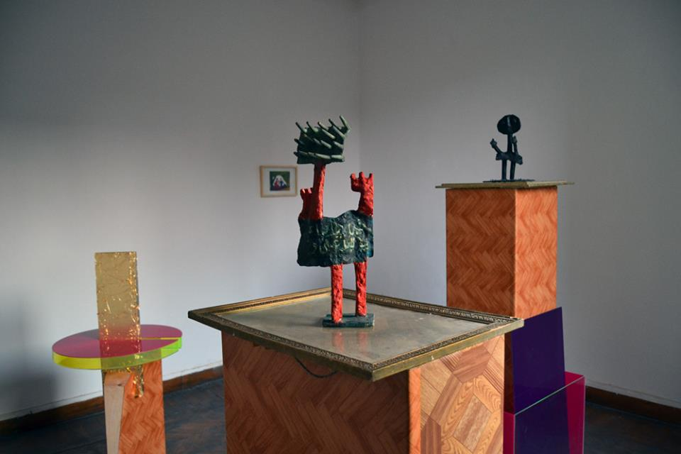 Overview of Museumish, an exhibition of works by Mariam Elias, Sobhy Guirguis and Paradoxia, with a Nile Sunset Annex copy of a painting by Wadiaa Shenouda, 2014.