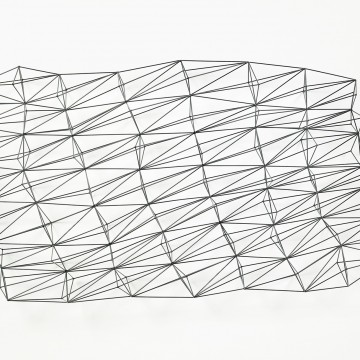 Mikey Kelly, Tapestry, 2013. Mild steel, powder coat, 36 x 60 x 12 inches. Courtesy of the artist, Chandra Cerrito Contemporary, and Incline Gallery.