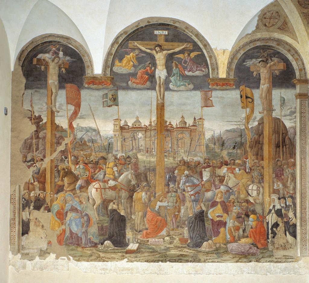 Giovanni Donato da Montorfano, Crucifixion, 1495–1497. Santa Maria delle Grazie, Milan.