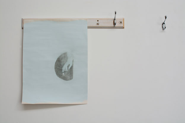 """Lee Kit. """"A picture,"""" 2015. Emulsion paint, inkjet ink, pencil and correction fluid on lining paper, readymade objects. Dimensions variable. Painting size: 44.3 x 56cm. Courtesy of mother's tankstation."""