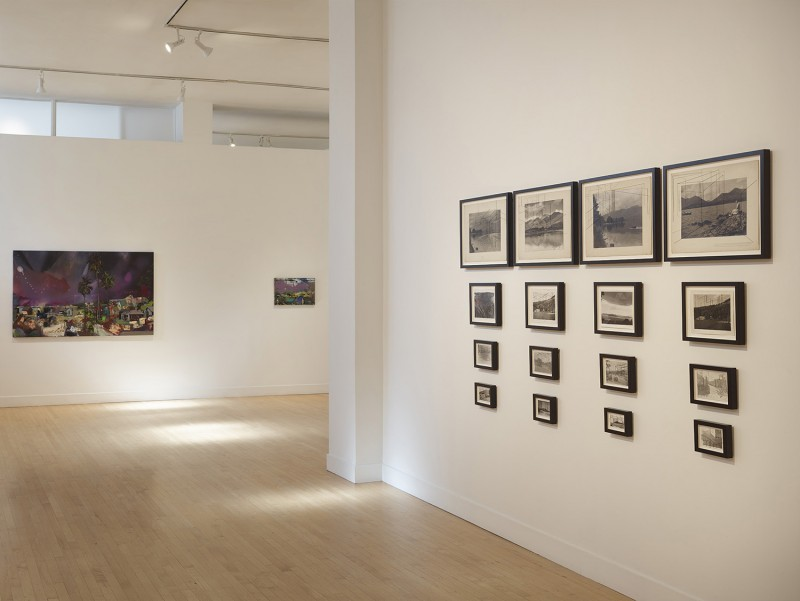 Installation view of The Mapmaker's Dream, Haines Gallery. Courtesy of the artists and Haines Gallery