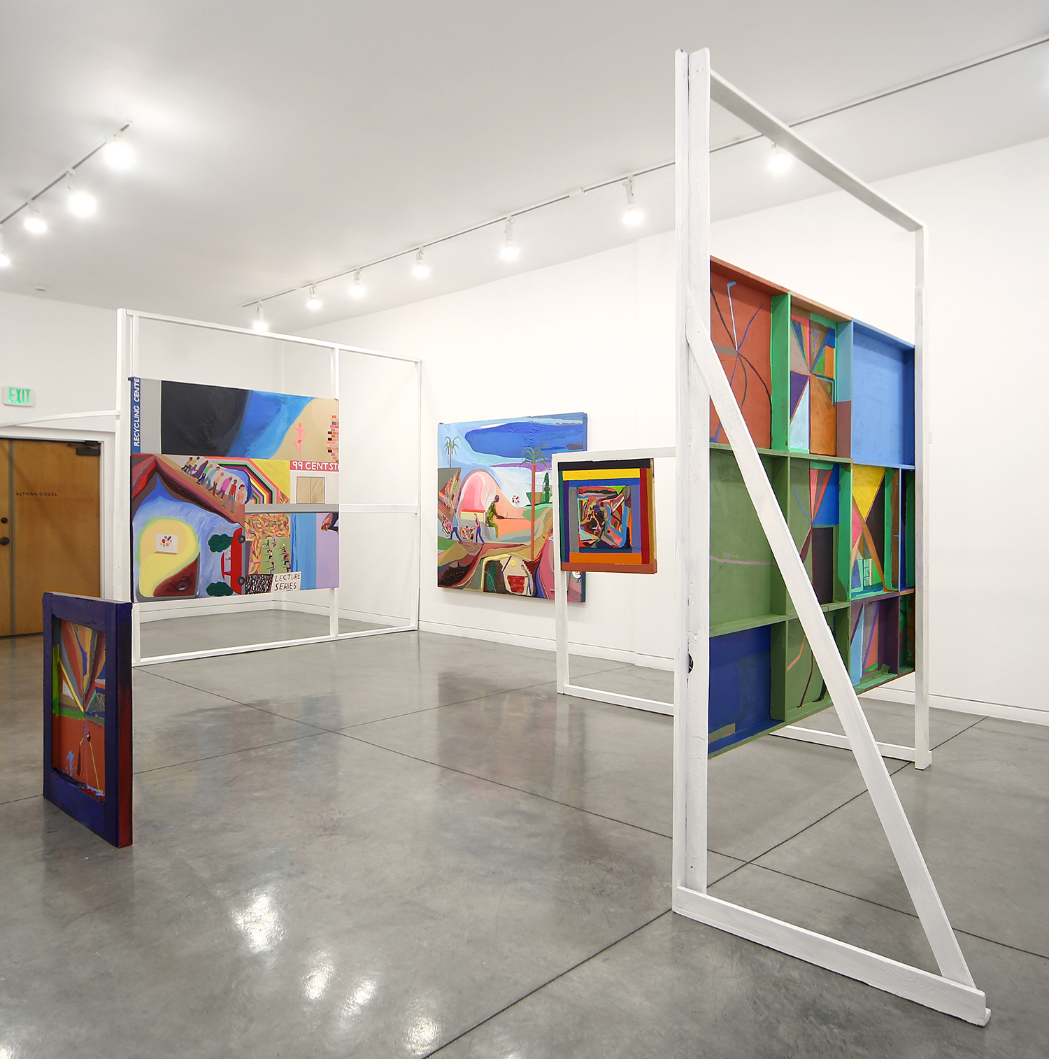Chris Johanson, Equations, 2015. Installation view, Altman Siegel, San Francisco. Courtesy of the Artist and Altman Siegel.