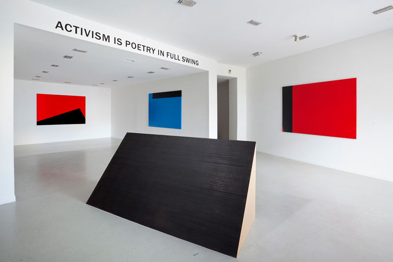 Installation view, Activism is poetry in full swing, Dimitris Dokatzis at Qbox Gallery, Athens, 2015. Courtesy of Qbox Gallery.