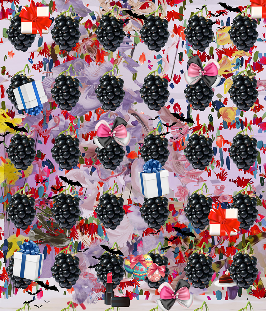 Petra Cortright. 30cal M-1 Screensavers. Giclee print. 48 x 41 inches. 2015