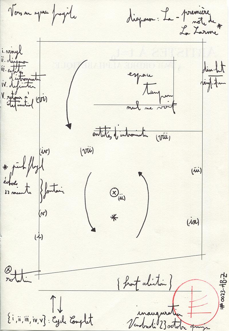 Description of the process of the inauguration. at Cercle de la Horla. Courtesy of Edgar Sarin