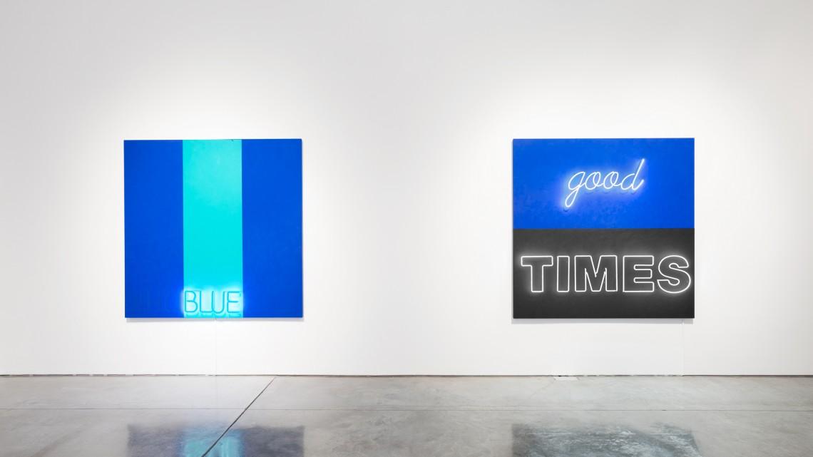 Deborah Kass. Installation view, No Kidding, December 9, 2015 to January 23, 2016. Image courtesy the artist and Paul Kasmin Gallery.