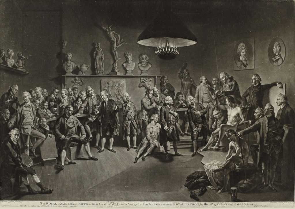 Richard Earlom, The Royal Academy of Arts, 1773. Mezzotint. Museum Purchase Fund, 1975.142.1. Courtesy of the Cantor Arts Center.