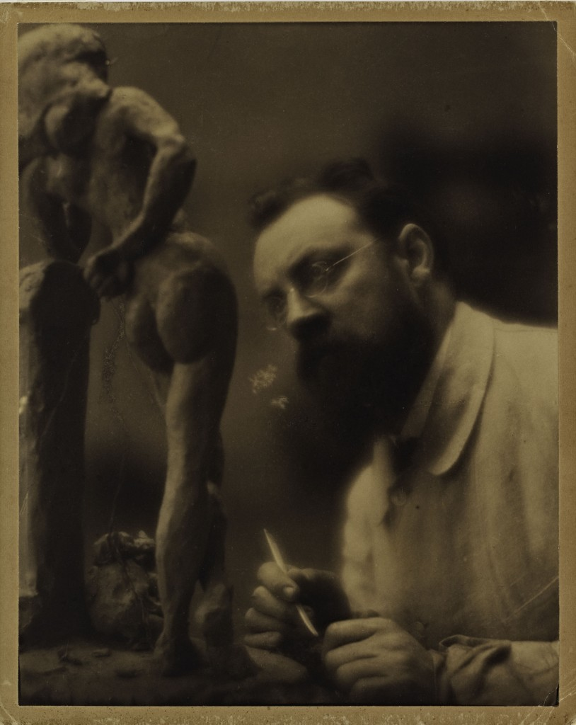 Edward Jean Steichen (U.S.A., b. Luxembourg, 1879–1973), Henri Matisse Working on the Sculpture La Serpentine, c. 1908. Platinum print. Anonymous gift, 1971.97. Courtesy of the Cantor Arts Center.